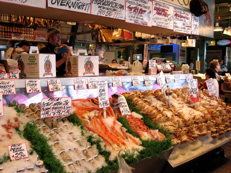 Pike's Place Market seafood